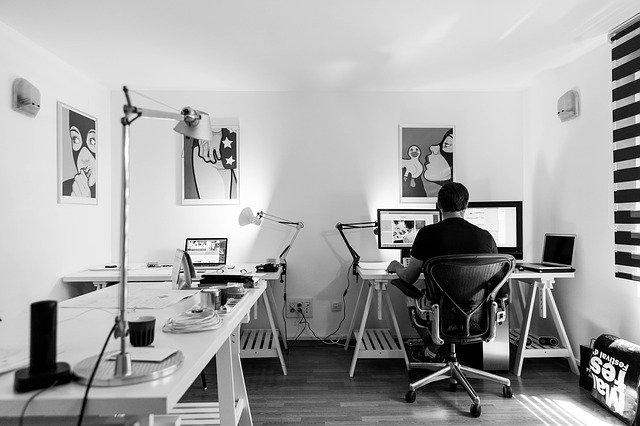 Kancelář začínajícího podnikatele