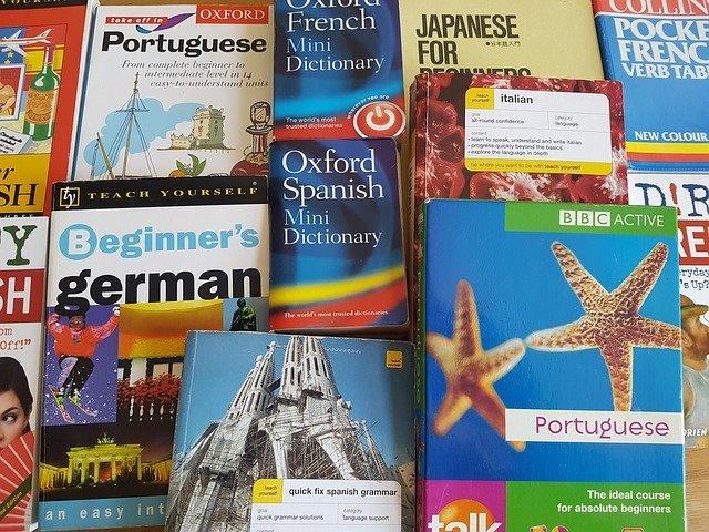 učebnice a slovníky cizích jazyků