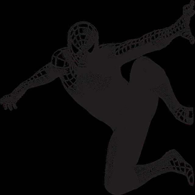 černobílý spider-man