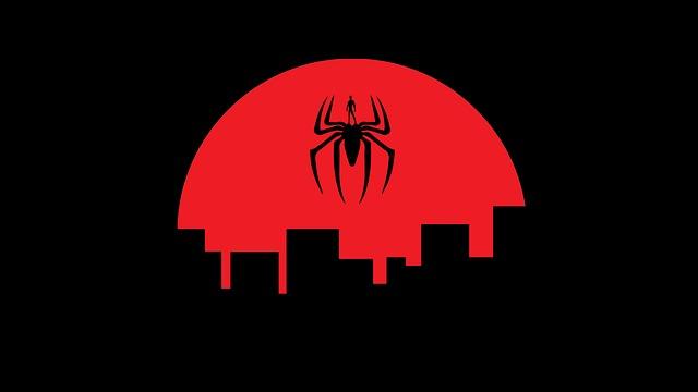 znak pavouka nad městem